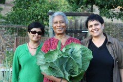 Pratibha and Shaheen with Alice Walker