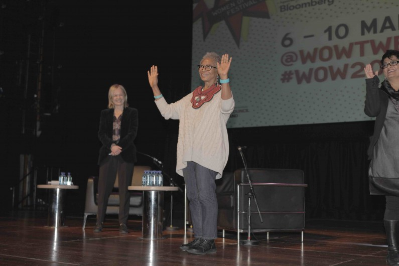 Alice Walker Taking a Bow on stage at world premier